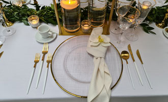 Cutlery White & Gold MW