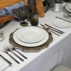 1. Fine Bone China Round Plates