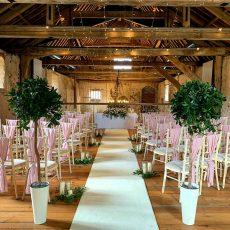 1. Pale Pink Drapes on Limewash Chivari Chairs