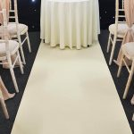 Cream Aisle Runner