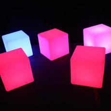 10. Lit LED Coloured Cubes