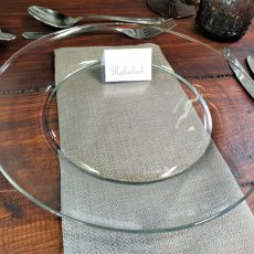 10.Glass Plate - Plain (Food Safe)