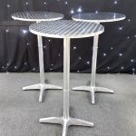 Stainless Steel Poseur Tables