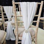 Ivory Chivari Chair Drape