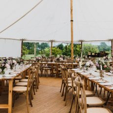 11. Light Wood Rustic Table Event Example