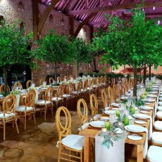 12. Light Wood Rustic Table Event Example
