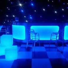 12. Lit Poseur Tables and Dance Floor Example