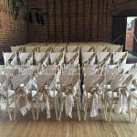 Hessian & Lace Sash Chair Wraps