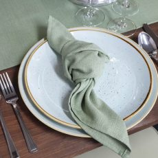 14 Sage Green Natural Napkin