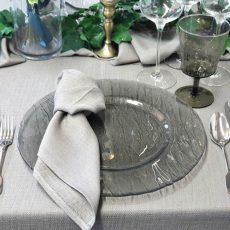 14. Smokey Grey Glass Charger Plate
