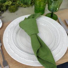 15. Forest Green Natural Napkin