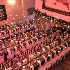 15. Light Brown Rustic Table Event Example