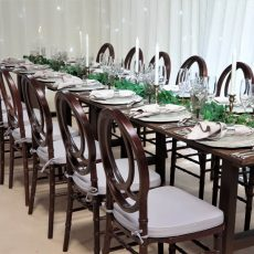 16. Light Brown Rustic Table Event Example