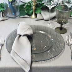 17. Smokey Grey Glass Charger Plate