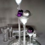 Christmas Martini Set with Lit Snow