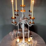 Christmas Winter Frosted Candle Holder