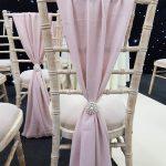 Pale Pink Chivari Chair Drape