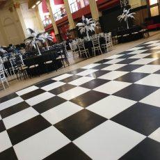 2. Black & White Dance Floor