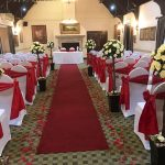 Chair Covers & Red Sash