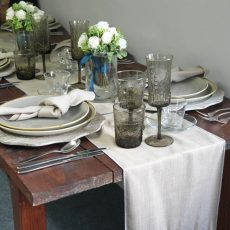 24. Grey Natural Table runner