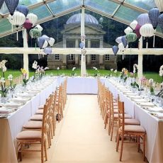 24.Large 1m x 2m Trestle Table Event Example In Rows
