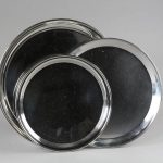 12,14 & 16inc Stainless Steel Round Trays