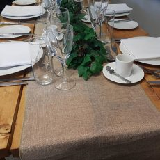 26. Burlap Natural Table Runner