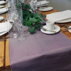 27. Victorian Lilac Natural Table Runner