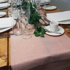 28. Blush Pink Natural Table Runner