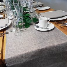 29. Cool Grey Natural Table Runner