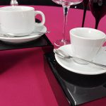 Tea Cup & Saucer with Demi Tasse Cup & Saucer