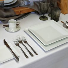 3. Fine Bone China Square Plates