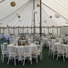 3. White Banqueting Chairs