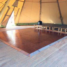3. Wooden Parquet Dance Floor