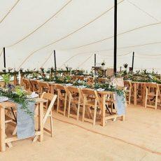 3.Beechwood Folding Chairs