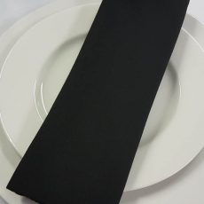 30. Black Plain Napkin