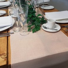 30. Champagne Natural Table Runner