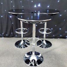 31. Black Top Poseur Tables