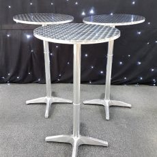 33. Stainless Steel Poseur Tables