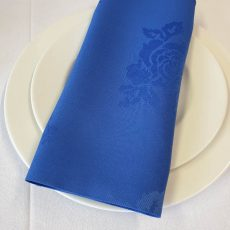39. Royal Blue Rose Pattern Napkin