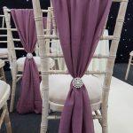Mauve Chivari Chair Drape