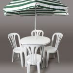 White Plastic Patio Set