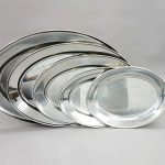 Stainless Steel Oval Platters 20,18,16,14 & 12inc