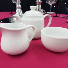5 Milk jug, Sugar Bowl with Tea Pot