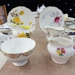 Vintage China Milk Jug, Sugar Bowl & Side Plate