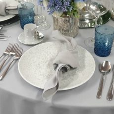 5.Speckle White Food Safe Plate