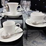 Tea Cup & Saucer, Demi Tasse Cup & Saucer with Latte Cup & Saucer