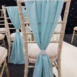Tiffany Blue Chivari Chair Drape