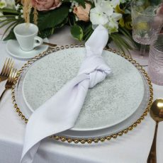 6.Speckle White Food Safe Plate