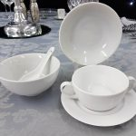 Rice Bowl, Dessert Bowl with Soup Bowl & Under Plate